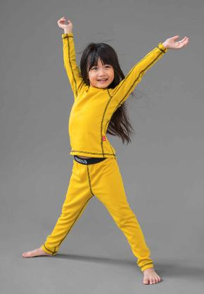 Kids' baselayer set Lani Yellow