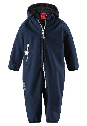 Toddlers' softshell overall Avulias Navy
