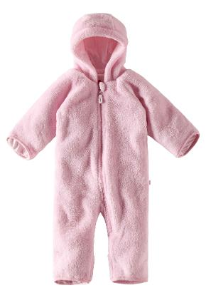 Babies' fleece overall Alku Pale rose