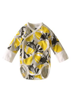 Babies' wrap-around bodysuit Pentu Yellow