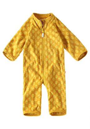 Babies' mid-season overall Laulu Dark yellow