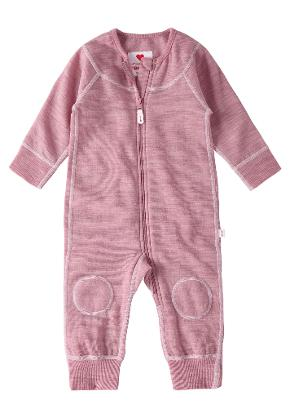 Babies' wool overall Lauha Dusty rose