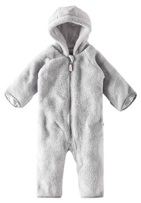 Babies' fleece overall Alku Light grey