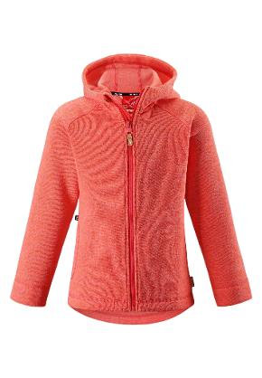 Kinder Fleecejacke Pursi Bright red