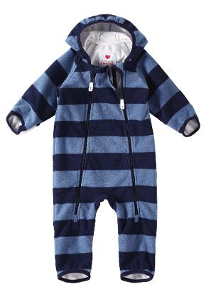 Babies' mid-season overall Tilhi Soft Blue