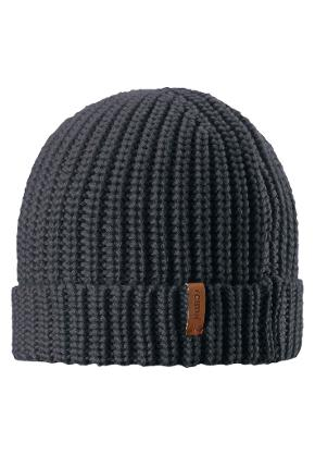 Kids' wool beanie Vanttuu Dark melange grey