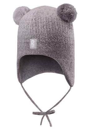 Toddlers' wool beanie Sammal Melange grey