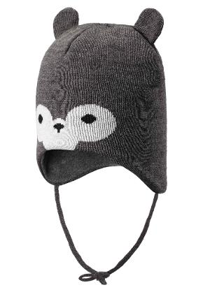 Toddlers' wool beanie Hukkanen Melange grey
