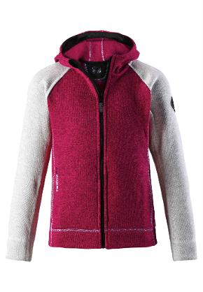 Juniors' fleece sweater Jakala Berry