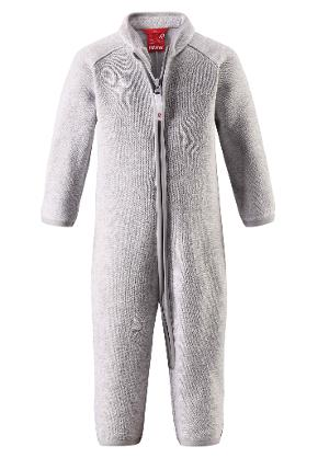 Fleece overall, Tahti Light melange grey Light melange grey