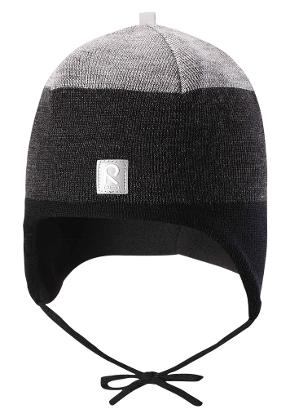 Toddlers' wool beanie Auva Graphite blue