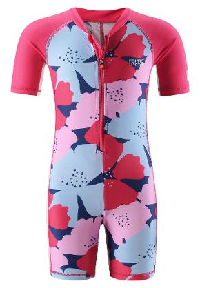 Kids' swimsuit Galapagos Raspberry red