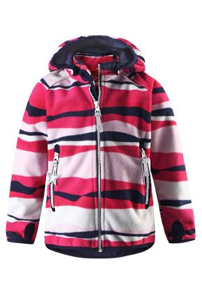 Barn windfleece jacka Vuoksi Red