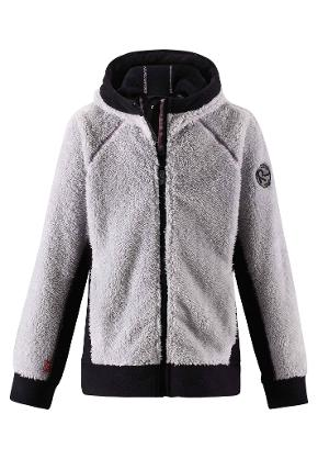 Fleece sweater, Root light melange grey Light melange grey
