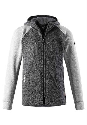 Juniors' fleece sweater Jakala Dark melange grey