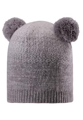 Kids' wool beanie Saana Dark melange grey